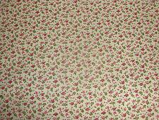 ROSES SWEET WILLIAMS WILD FLOWERS CALICO BLOSSOMS on COTTON FABRIC By The YARD