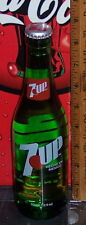 2017 7 UP 12 OUNCE GLASS 7 UP  BOTTLE MADE WITH REAL SUGAR HECHO EN MEXICO