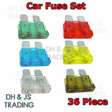 36 Piece Car Fuse Set Auto Blade Fuses Set 5 10 15 20 25 30 Amp 36 Pc