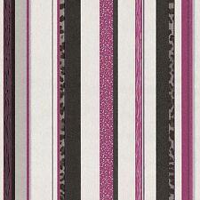 Vliestapete Streifen Leoprint schwarz pink silber P+S Trend Edition 13471-10 (2,