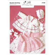 Baby Matinee Double Knit DK Original Knitting Pattern Jacket Mittens Bootees7188