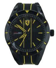 Ferrari Unisex Watch, Black/Yellow Silicone Band NEW  WITH BOX