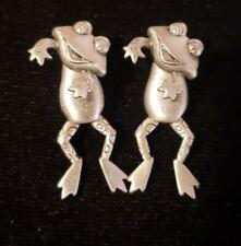 Beautiful Jj Jonette Ear Art Pewter Frog Earrings