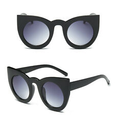Fashion Round Cat Eye Oversized Sunglasses Retro Thick Vintage Style Frame Women 4#