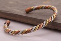 Copper Bracelet Tibetan Bio Pain Relief Pattern Magnetic Unisex Bangles