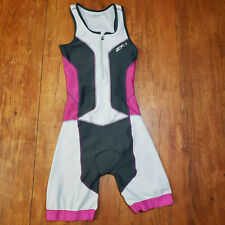 2Xu Womens Small Tri Suit Purple Sleeveless Perform Triathlon Cycling Skinsuit S