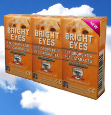 Ethos Bright Eyes Cataract Eye Drops for Dogs Vision Naturally 3 Boxes 30ml