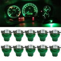 10X T5 B8.5D 5050 1SMD Car Green LED Dash Dashboard Gauge Instrument Light Bulbs