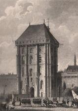Porte d'entrée, Chateau de Vincennes. Val-de-Marne. BICKNELL 1845 old print