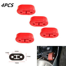 4pcs Car Truck Motorbike Rubber Exhaust Hangers Pipe Mounting Bracket 12 mm Hole