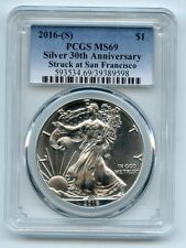 2016 (S) $1 American Silver Eagle 1oz Dollar PCGS MS69 Struck in San Francisco