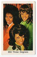 1970s Sueco Pop Star Carta #653 EEUU hembra PHILLY Vocal Grupo 3 THREE Grados