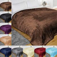 Light Weighted Super Soft & Warm Fleece Cuddly Blanket Sofa Throw Mink Blanket