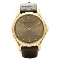 Emporio Armani Men's Swiss Quartz Gold Brown Alligator Leather Watch ARS2004