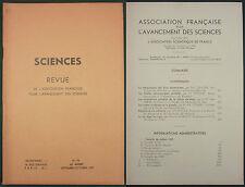 REVUE POUR L'AVANCEMENT DES SCIENCES - 1937 N°15 - Astronomie Ondes cerebrales..