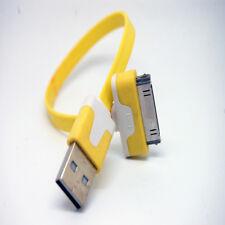 10 un. 20cm Trenzado Cable Cargador Sincronización USB Para iPhone 3GS 4 4S Ipad Ipod Amarillo