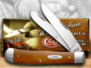 Case xx Trapper Knife Smooth Chestnut Bone Handle Stainless Pocket Knives 28707