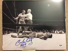 CARLOS ORTIZ Boxing Signed Autograph Auto 11x14 Picture Photo PSA Boxing Champ