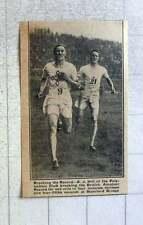 1921 Aj Hill Polytechnic Club Breaking Mile Record Stamford Bridge