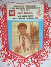 SEOUL 1988  OLYMPIC GAMES Pennant bronze medalist in boxing JAN DYDAK VERY RARE
