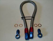6AN FUEL LINE FOR HONDA CIVIC 1992-2000 STAINLESS BRAIDED RED/BLUE ENDS