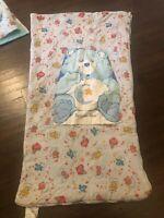 Vintage Care Bears Kid size Sleeping Bag 44 x 24 Bedtime bear