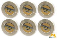 """WALKER No Shine Bonding Tape Roll 3/4"""" x 12 yards, wig toupee hairpiece 6 rolls"""