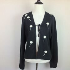 Shu Shu Cardigan Sweater Womens Large Embroidered