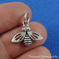 .925 Sterling Silver HONEY BEE Insect CHARM PENDANT