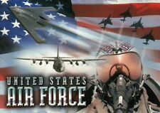 United States Air Force, Planes Aircraft Pilot Military Flag, US --- Postcard