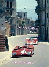 Nanni Galli ALFA ROMEO T33/TT/3 TARGA FLORIO pratica il giorno 1972 Fotografia