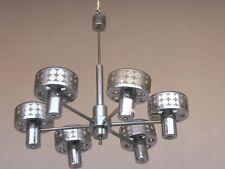 lustre 6 lumière 1970 métal chromé