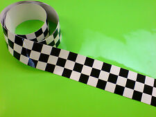 """CHEQUERED TAPE 50"""" x 2"""" Strip LAMINATED for extra durability 1 off"""