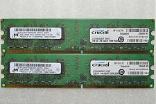4 GB 2 X 2 Gb Ddr2 Pc2-5300 Micron Ddr2-667 Mhz De Memoria Dimm Pc Escritorio Ram 240 Pin