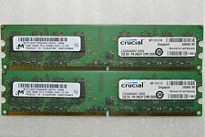 4 GB 2x2GB DDR2 PC2-5300 MICRON DDR2-667 MHZ MEMORY DIMM PC DESKTOP RAM 240 PIN