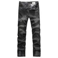 FOX JEANS Men's Augus Comfort fit Black Denim Jeans SIZE 30-44