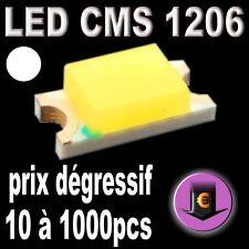 169# LED CMS 1206 Blanche 600 mcd de 10 à 1000 pcs blanc