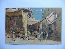 Carte postale, CPA Lessieux, authentique, Marseille marché dans la vieille ville