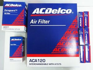 ACDelco Ford Falcon BA 6 Cylinder Service Kit Oil Air Fuel Filter Spark Plugs