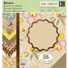 K & Company EDAMAME 12X12  Specialty Paper pad~Georgeous! Quick Ship!