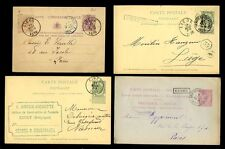 BELGIUM 1879-1897 STATIONERY 4 ITEMS...BOXED MONTZEN + CINEY etc...LIEGE UPRATED