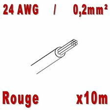 Fil de cablage 24AWG / 0,2mm² Rouge 10m