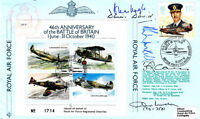 46th Anniv Battle of Britain Signed by 4  Battle of Britain Fighter Pilots Air g