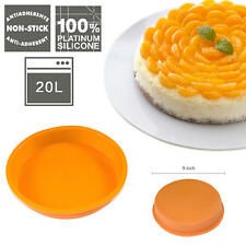 "9"" Round Cake Mold Bread Chocolate Pie Pizza Pan Bakeware Tray Silicone Mould"