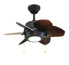 Oil Rubbed Bronze Dual Mount 6-Blade Ceiling Fan 24
