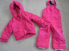 SUPER Columbia dark pink 2-piece winter coat + matching snowpants - girls 3T