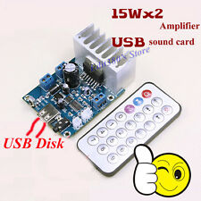 TDA7297 2-channel Audio Amplifier Board With MP3 USB Decoder + Remote Control