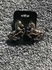 Large horse stud earrings Gold Colour ASOS