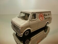 DINKY TOYS 410 BEDFORD VAN HIRE + SERVICE - WHITE 1:43 - GOOD CONDITION - 9