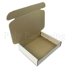 """10 x WHITE Posting Boxes 250x210x50mm(10x8x2"""")Gift Box Packaging for Shipping"""